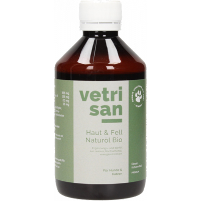 <strong>Huile naturelle bio<br>Peau & Pelage chat<br>Vetrivital<strong>